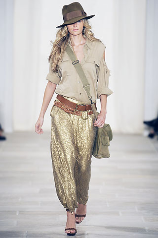 Ralph Lauren Spring 2009 Ready-To-Wear Collection.  Harem Pants?!?