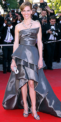 Hilary Swank in Armani Prive gown