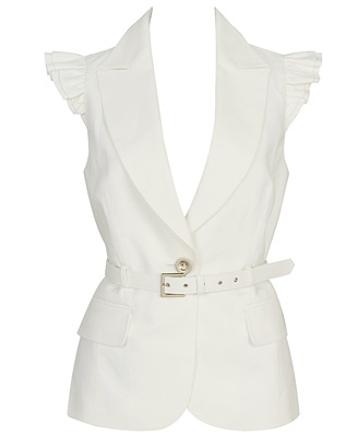 Forever 21 White Vest (Looks better without the belt) $22.80