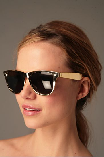 Gold Wayfarers from Freepeople.com  $14.00