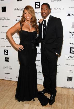 Mariah Carey in Black Gown & Chopard diamonds