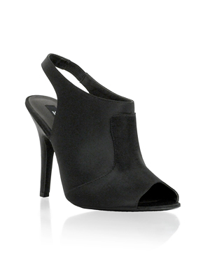 Black peep-toe heel $12.87