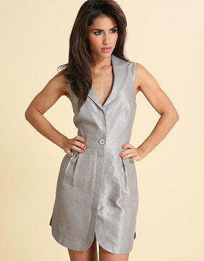 Linen WaistCoat dress, $29.42 (also in Black)