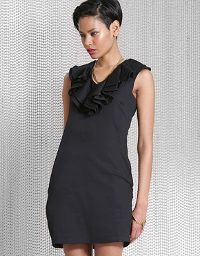 Satin Ruffle/Black dress $51.49