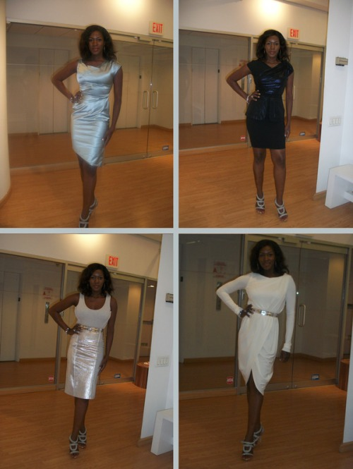 Stephanie Okereke in four Rachel Roy outfits