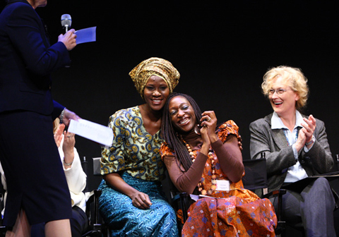 Actress Meryl Streep and Nollywood Actress Stephanie Okereke
