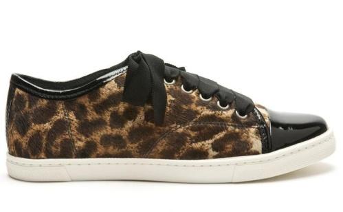 Lanvin, Cap Toe Leopard Sneaker